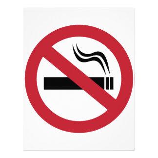 No Smoking Letterhead