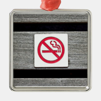 No Smoking Metal Ornament