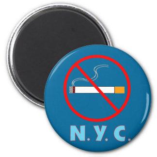 No Smoking New York City Sign Magnet