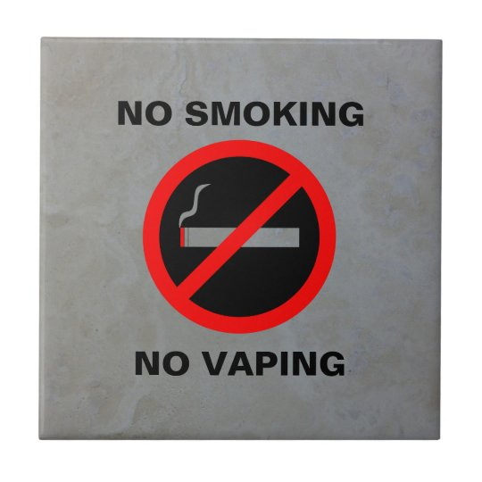 NO SMOKING NO VAPING SIGN TILE