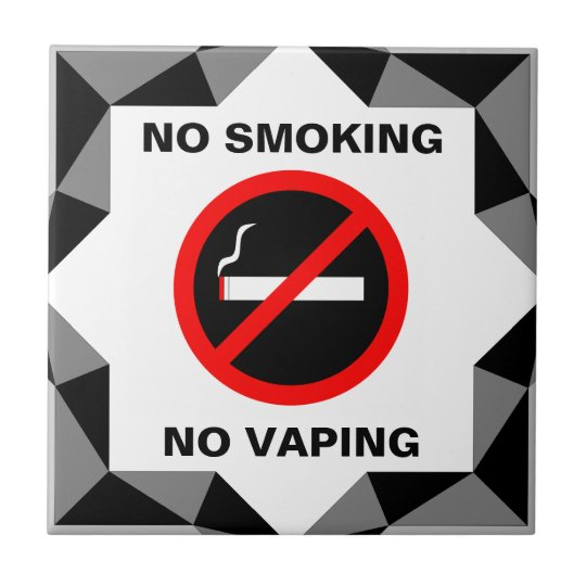 NO SMOKING NO VAPING SIGN TILE
