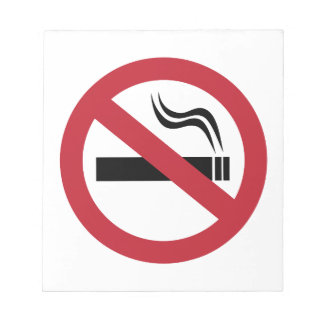 No Smoking Notepad