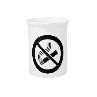 No Smoking Pitcher