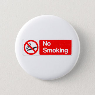 No Smoking Sign 2 Inch Round Button