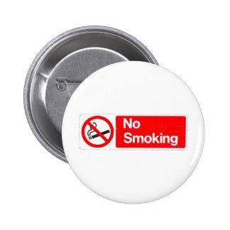 No Smoking Sign 2 Inch Round Button