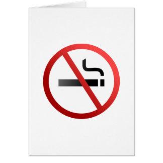 No Smoking Sign Card