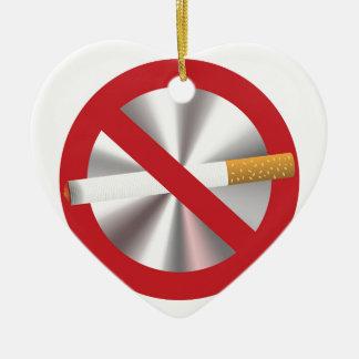 no smoking sign ceramic ornament
