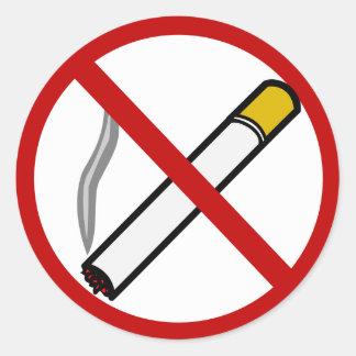 No Smoking Sign Cigarette Tobacco Symbol Classic Round Sticker