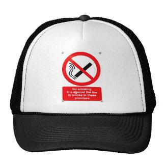 No smoking sign mesh hats