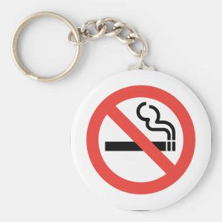 No Smoking Sign Keychain