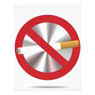 no smoking sign letterhead