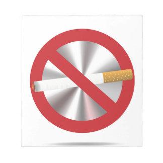 no smoking sign notepad