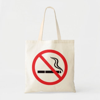 No smoking sign or symbol/anti smoking tote bag