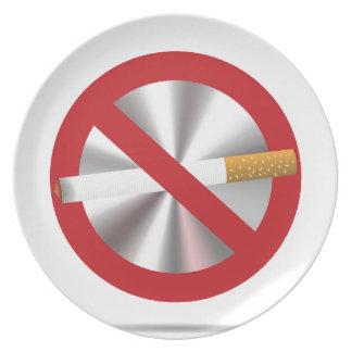 no smoking sign plate