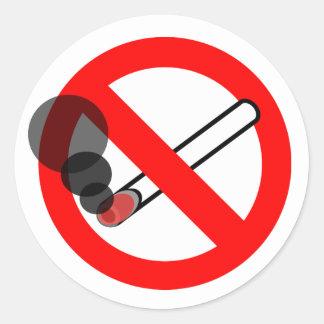 No Smoking Sign Round Sticker