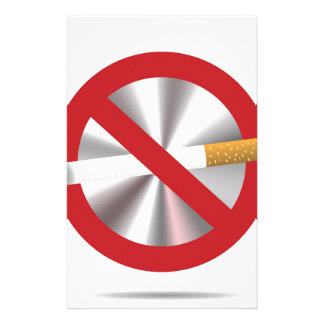 no smoking sign stationery