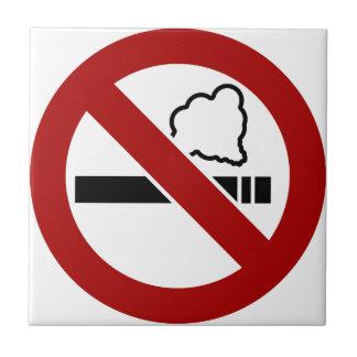 No Smoking Sign Tile