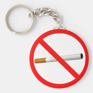 No Smoking Sign with Cigarette Keychain