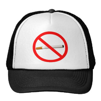 No Smoking Sign with Cigarette Trucker Hat