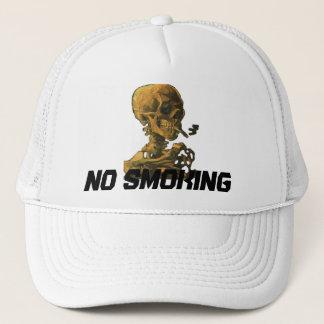 No Smoking Skull with Cigarette Trucker Hat