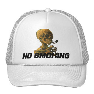 No Smoking Skull with Cigarette Trucker Hat