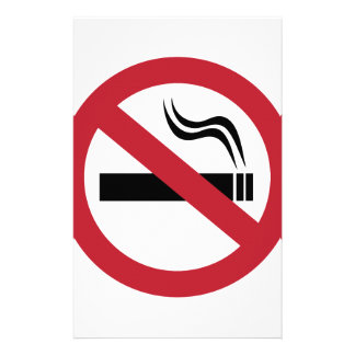 No Smoking Stationery