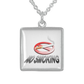 NO SMOKING STERLING SILVER NECKLACE