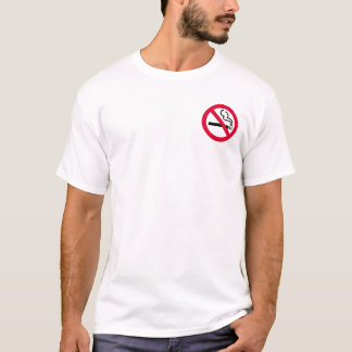 No-Smoking Symbol (3 inch pocket) T-Shirt
