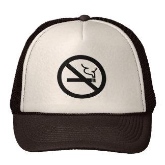 No Smoking Symbol Mesh Hats