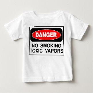 """""""No Smoking Toxic Vapors"""" Baby T-Shirt"""