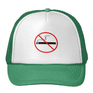 NO SMOKING TRUCKER HAT