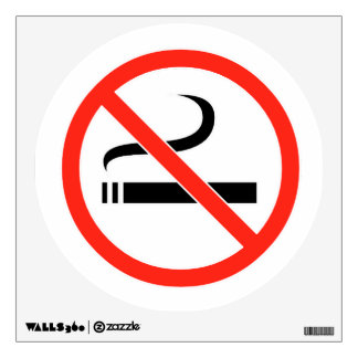 No Smoking Wall Decal Sign