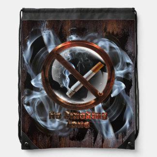 No Smoking Zone Drawstring Bag