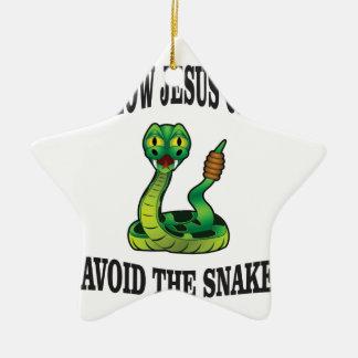 No Snakes with JC Ceramic Ornament