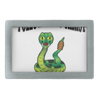 No Snakes with JC Rectangular Belt Buckle
