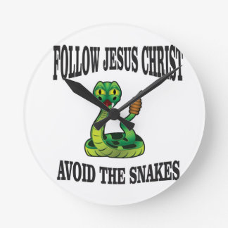 No Snakes with JC Round Clock