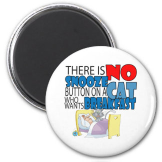 No Snooze Cat Bed 2 Inch Round Magnet