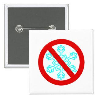No Snowflake 2 Inch Square Button