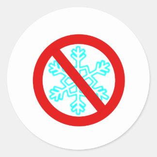 No Snowflake Classic Round Sticker