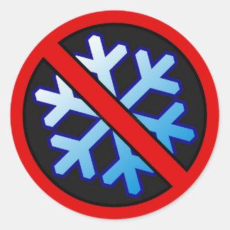 NO SNOWFLAKES 1 CLASSIC ROUND STICKER