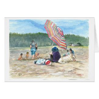 No so Sunny on the Beach Card