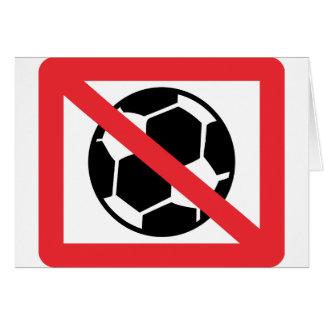 no soccer card
