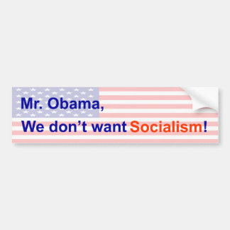 No Socialism Bumper Sticker