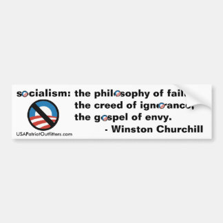 No Socialism - Winston Churchill definition 1.0 Bumper Sticker