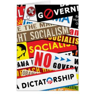 No Socialist Propaganda Greeting Card