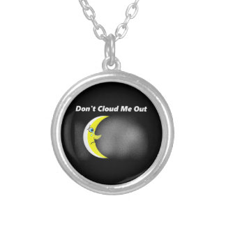 No Solar Eclipse Silver Plated Necklace