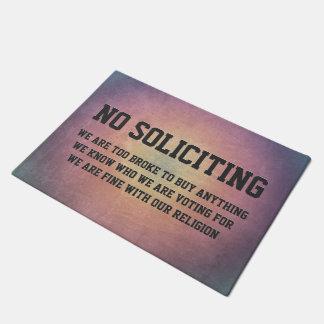 No Soliciting Doormat