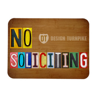 No Soliciting License Plate Art Letter Magnet