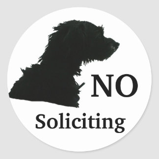 NO SOLICITING ROUND STICKER