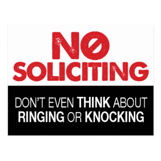 No Soliciting Sign - Don't Ring or Knock Postcard